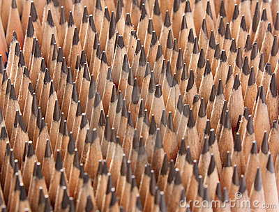 Sharp wooden pencils