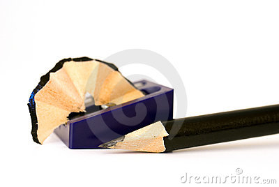 Sharpened pencil and sharpener