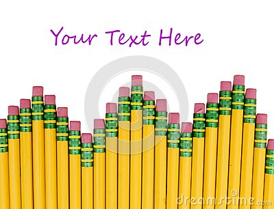 Sharpened pencils isolated