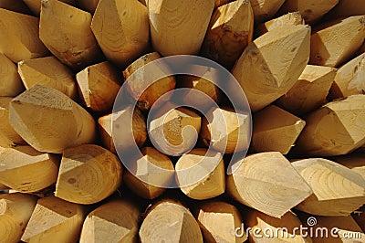 Sharpened poles