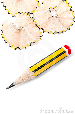 Sharpened small pencil