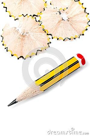 Sharpened small pencil