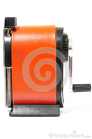 Free Sharpener Of Pencil On White Background Stock Image - 68683991