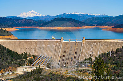 Shasta Dam Royalty Free Stock Photos - Image: 4456278