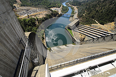 Shasta Hydro Dam and Spillway, USA