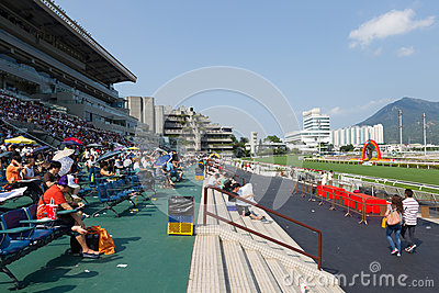 Shatin Racecourse in Hong Kong Editorial Stock Photo