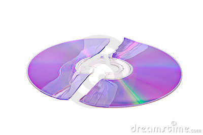 Shattered DVD / CD isolated on white