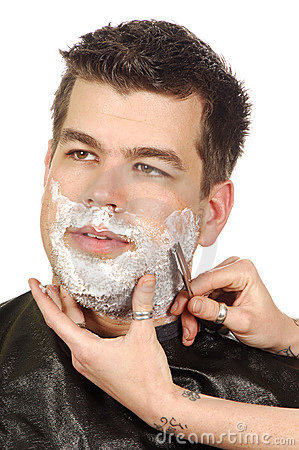Free Shave At Salon Royalty Free Stock Photography - 3314507
