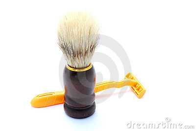 Shaving brush with shaver