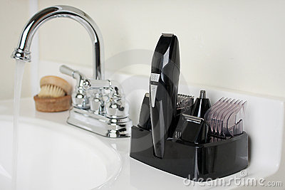 Shaving Kit in Bathroom