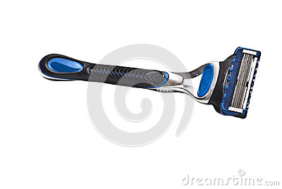 Shaving razor isolated