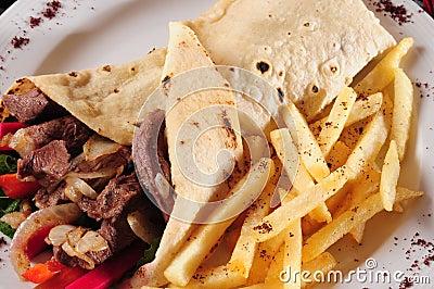 Shawarma plate.