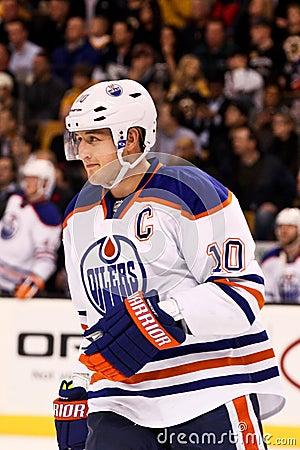 Shawn Horcoff Edmonton Oilers Editorial Image