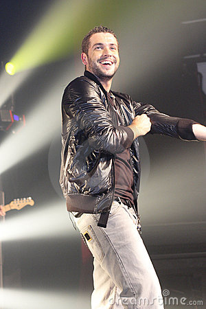 Shayne Ward performing in malaysia Editorial Stock Image