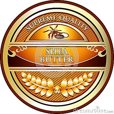 Shea Butter Vintage Label