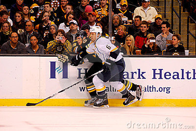 Shea Weber v. Tyler Seguin (Predators v. Bruins ) Editorial Photography