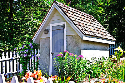 Shed in a Small Garden