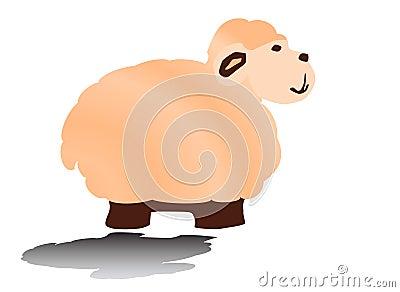 stock photo  sheep amusing