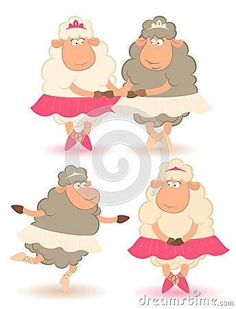 Sheep - ballet dancer.