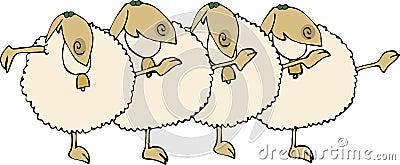 Sheep Chorus Line