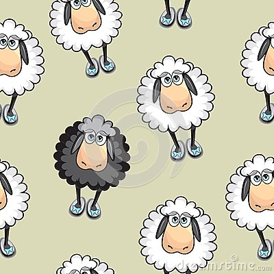 Sheep Seamless pattern