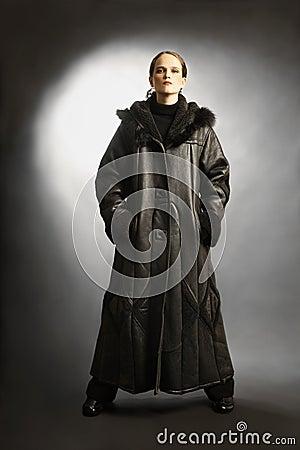 Sheepskin coat winter clothes fashion