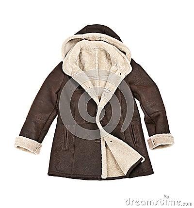 Sheepskin winter coat