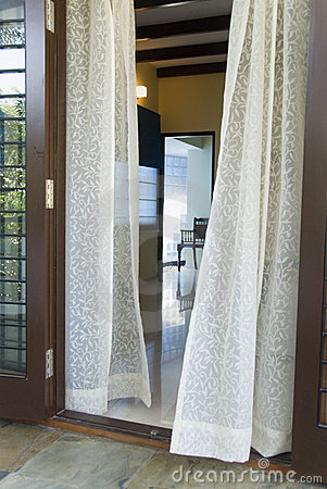 Free Sheer Curtains Royalty Free Stock Image - 5371066