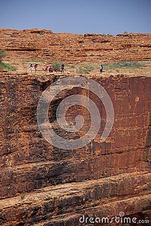 Free Sheer Drop At King S Canyon Stock Photography - 6970052