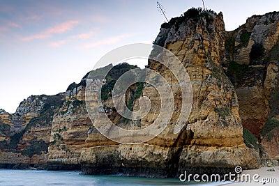 Sheer rocky cliffs