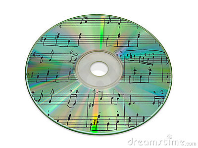 Sheet music on compact disk
