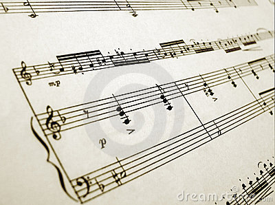 Sheet music for flute and piano