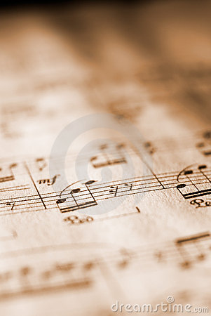 Free Sheet Music In Sepia Tone Royalty Free Stock Photography - 2020997