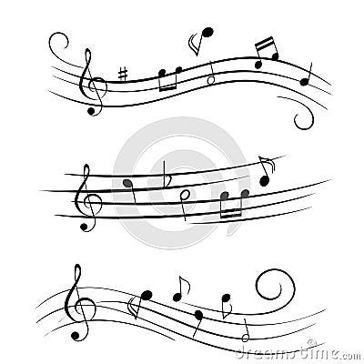 Free Sheet Music Musical Notes Stock Image - 14816331