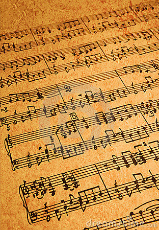 Free Sheet Music On Parchment Stock Photo - 5706240