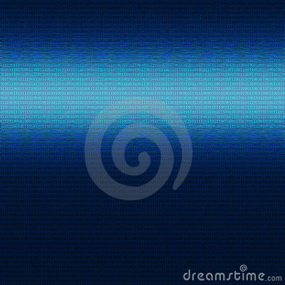 Free Sheet Of Blue Metal With Binary Zero One Pattern Royalty Free Stock Photography - 23421707