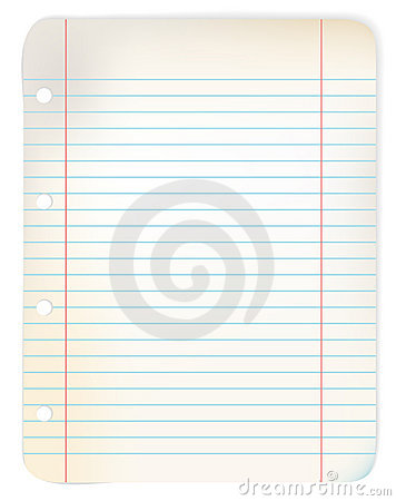 Sheet of old grunge lined paper