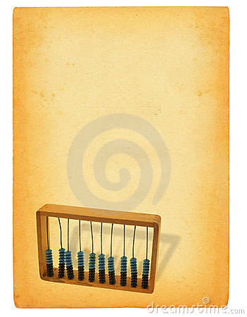 Sheet of paper with abacus