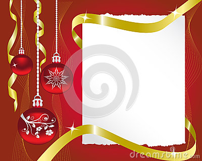 sheet of paper and Christmas decorations