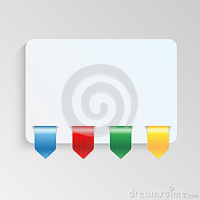 Sheet of paper with multicolor labels