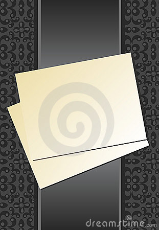 Sheet of paper ribbon gray