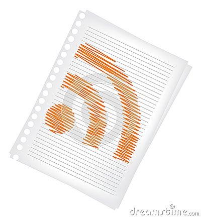 Sheet of paper rss