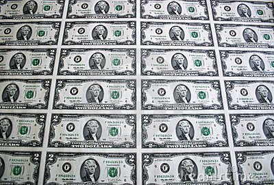 Sheet of Two Dollar Bills 4