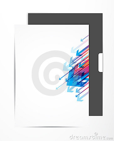 Free Sheet With Colored Arrows. Royalty Free Stock Images - 15111479