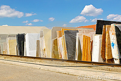 Sheets of marble
