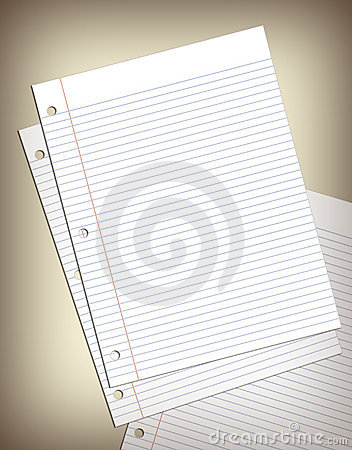 Sheets of Notebook Paper