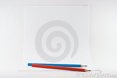 Sheets of paper with pencils