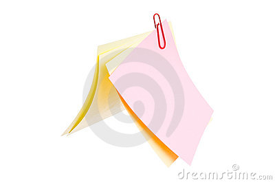 Sheets of stapled paper clips