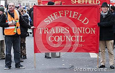 Sheffield Pensions Strike Editorial Photo