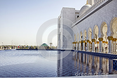 Sheikh Zayed Mosque, Abu Dhabi Editorial Photography